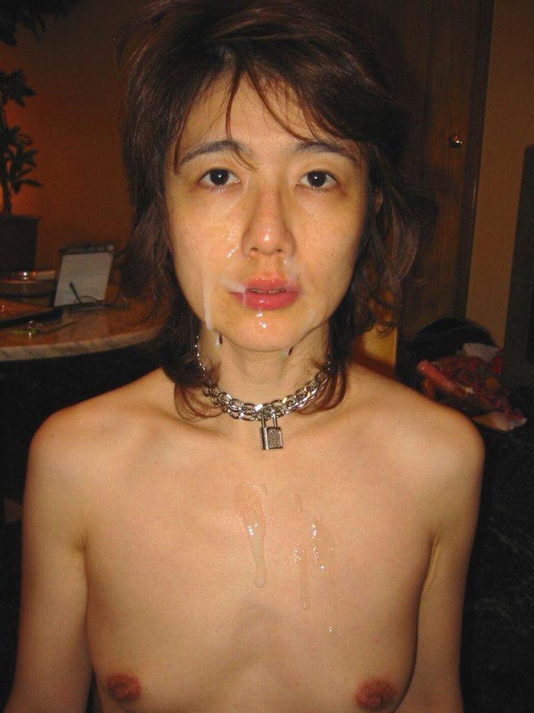 人妻・熟女の顔射画像 9枚目