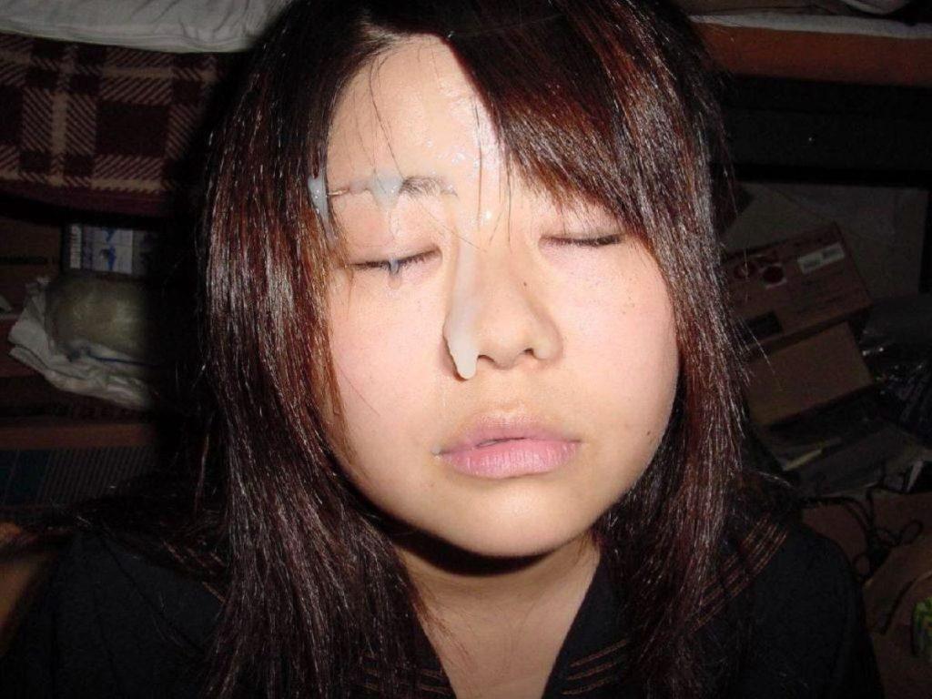 JK・女子高生の顔射画像 12枚目