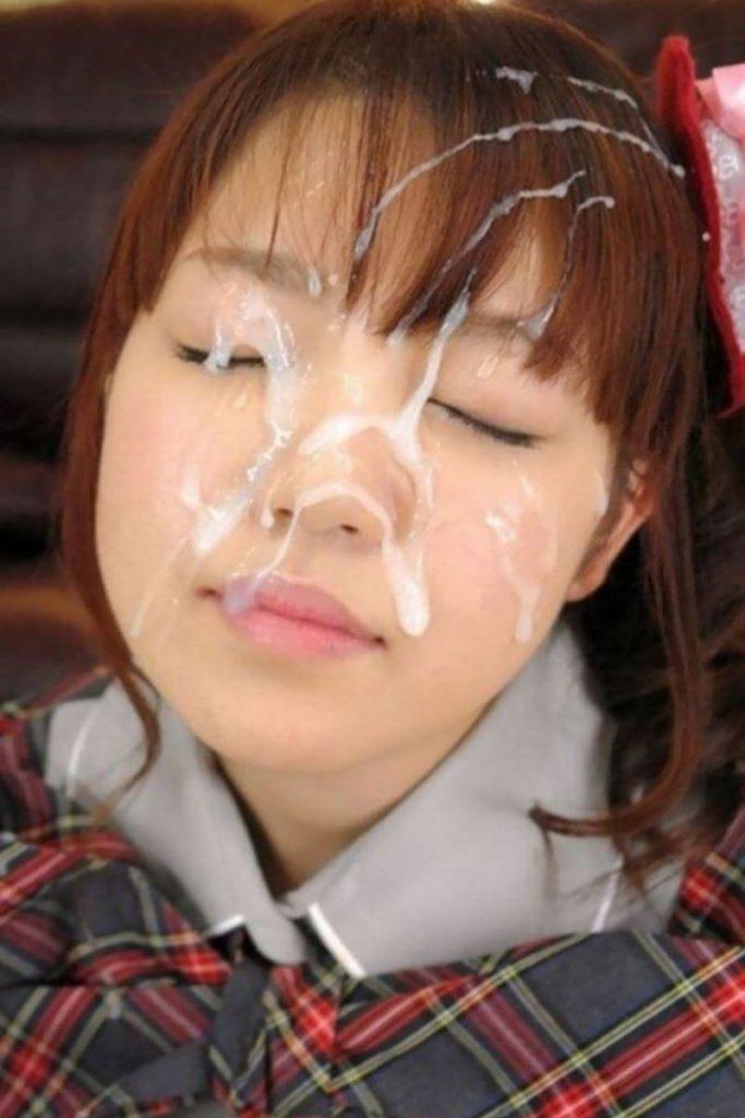 JK・女子高生の顔射画像 5枚目